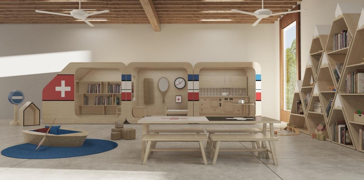 Swiss Daycare In Brooklyn New York Interior Design Concept Sarit